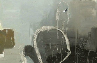 Blanco y negro, figura ausente,Óleo sobre lienzo. 170 x 150cm2016