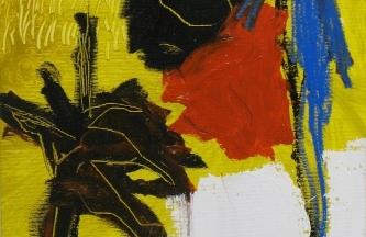 Estudio para dos plantas oleo y acrilico sobre lienzo 34x29cm