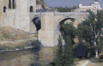 PUENTE DE ALCÁNTARA [TOLEDO]. Oil on canvas mounted on panel. 56.5 x 33 cm [2018]