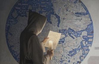 RÍO OCÉANO, FRA MAURO, c.1450. [en realización]. Óleo sobre lienzo encolado a tabla. 100 x 100 cm : 39 3:8 x 39 3:8 in [2019]