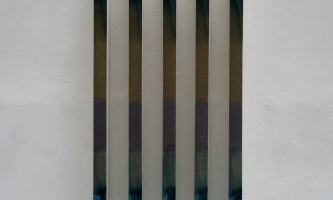 REF 1089. IDENTICAL PAINTINGS 2011. Sequence of 5 units. 77 x 3 x 7 cm unit. Mixed media on canvas on wood.