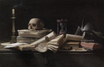 VANITAS ESPAÑOL. Óleo sobre lienzo encolado a tabla. 73 x 105 cm [2009]