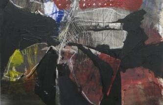 studio para planta 3,Óleo y acrílico sobre lienzo,80x60cm2019